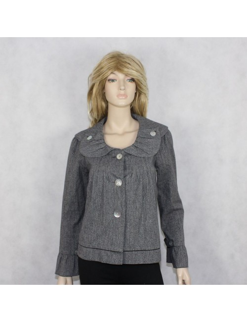 LIVING PLANET womens gray cotton jacket (S)