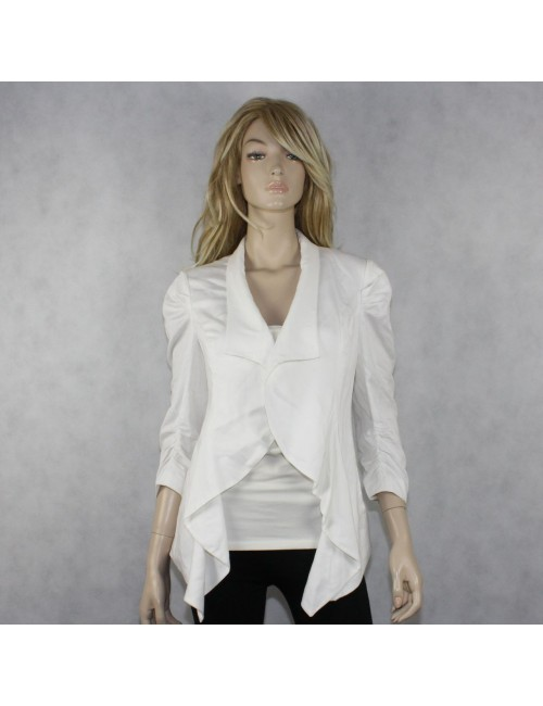 BEBE Lightweight White Waterfall Jacket!