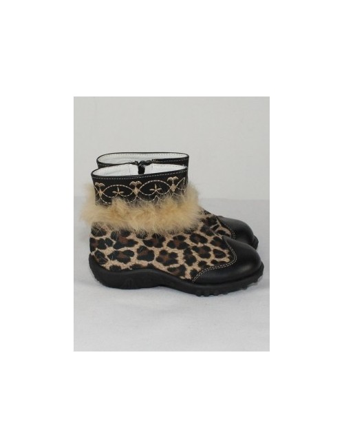 DOGI girls boots with rabbit fur trim