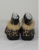 DOGI girls boots with rabbit fur trim