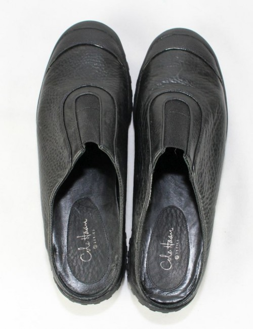 COLE HAAN COLE HAAN Series black leather waterproof slide on shoes