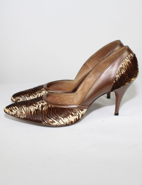 GEORGE BRIGHTWELL womens animal print vintage heels