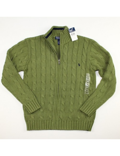 RALPH LAUREN boys full zip cardigan sweater