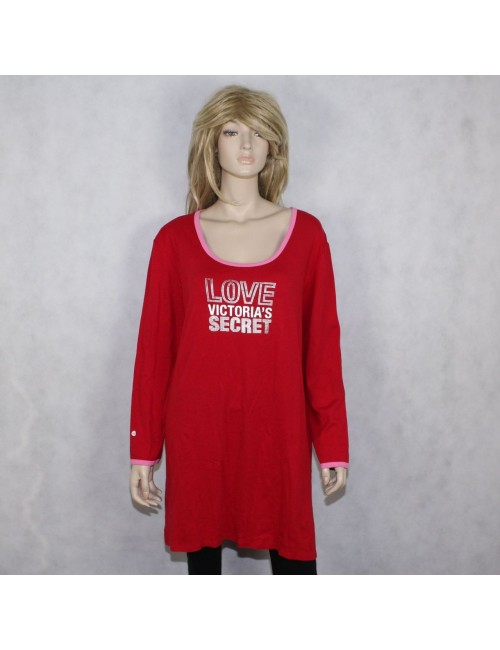 VICTORIA'S SECRET womens red sleeping shirt