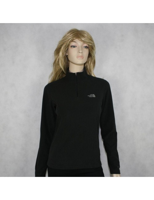 THE NORTH FACE womens charcoal fleece 1/2 zip sweatshirt