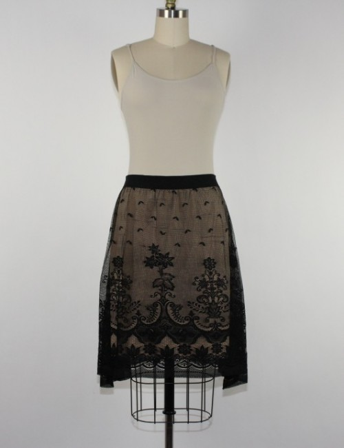 MAX STUDIO lace skirt (L)