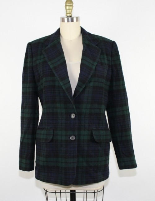 RALPH LAUREN womens plaid blazer (6)