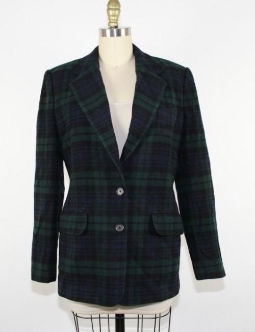 RALPH LAUREN womens plaid blazer (6)
