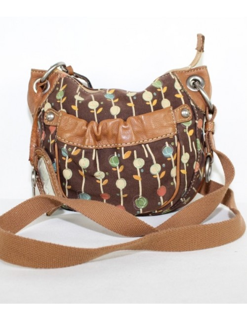 FOSSIL flower print cross body bag