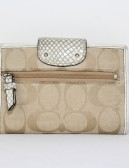COACH signature canvas biford wallet