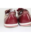 COACH brodi signature khaki plum patent leather sneakers