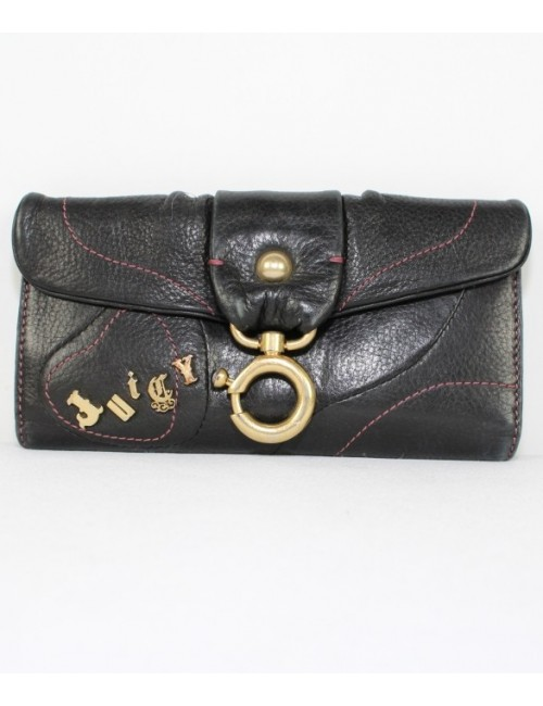 JUICY COUTURE women padded leather triford walelt