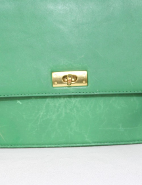J.Crew Green Leather Woman Handbag