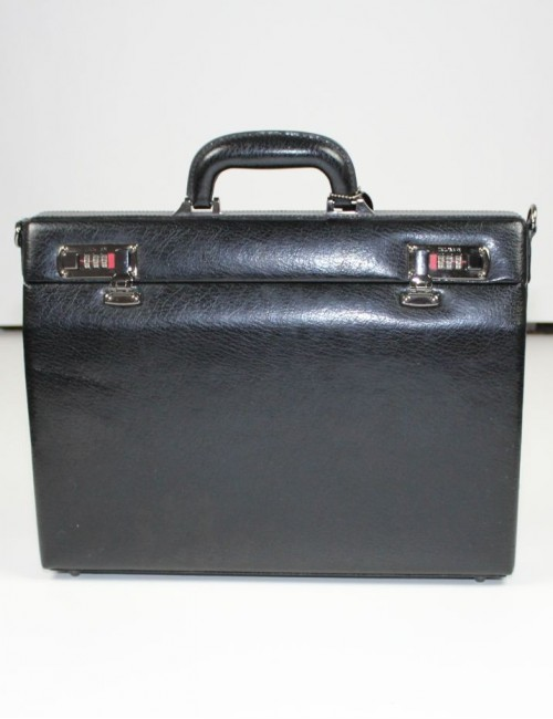 MANCINI MANCINI slim leather Attache Case