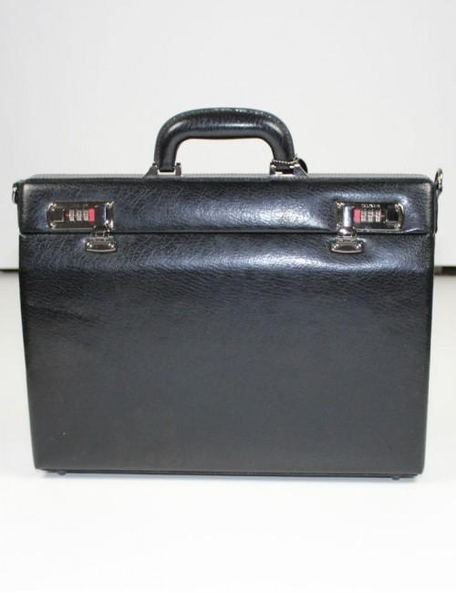 MANCINI MANCINI slim leather Attache Case
