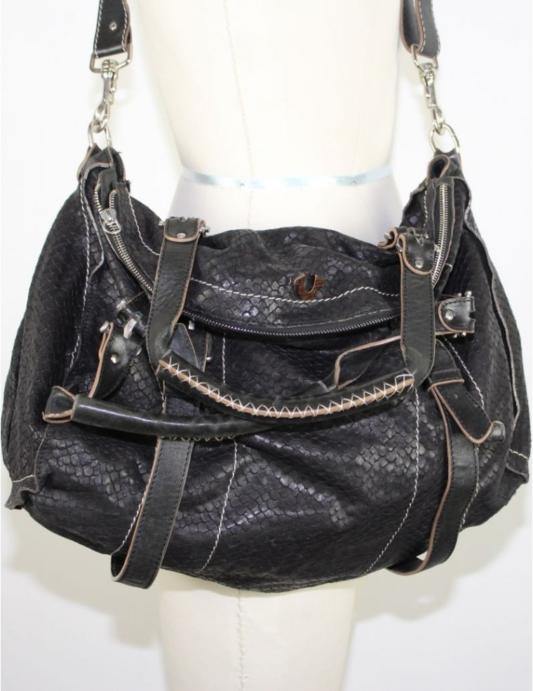 True Religion Leyla Bag Leather Black Color