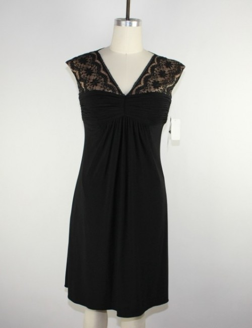 ADRIANNA PAPELL jersey dress laced (4)