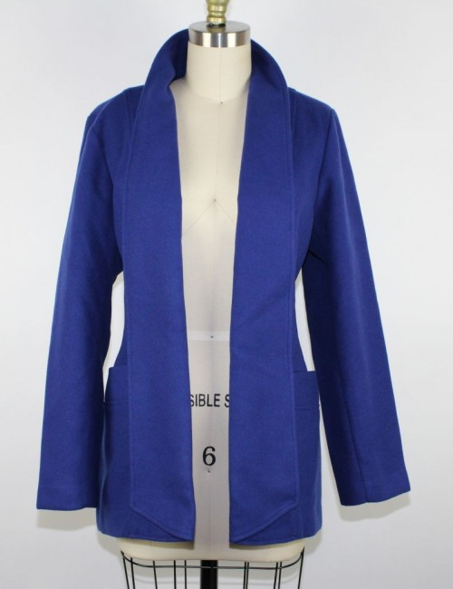 CHICOS Shawl Collar Light Smooth Plush Jacket size 1 (US 8/10)