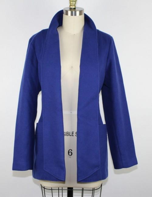 CHICOS Shawl Collar Light Smooth Plush Jacket size 1 (US 8/10)