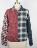 TOMMY HILFIGER vintage patchwork plaid jacket (L)