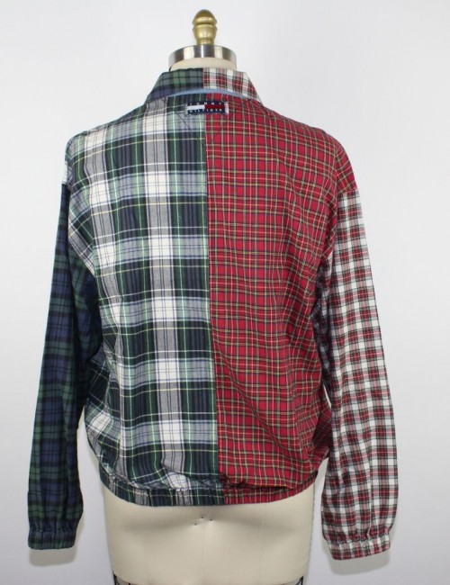TOMMY HILFIGER vintage patchwork plaid jacket (L)