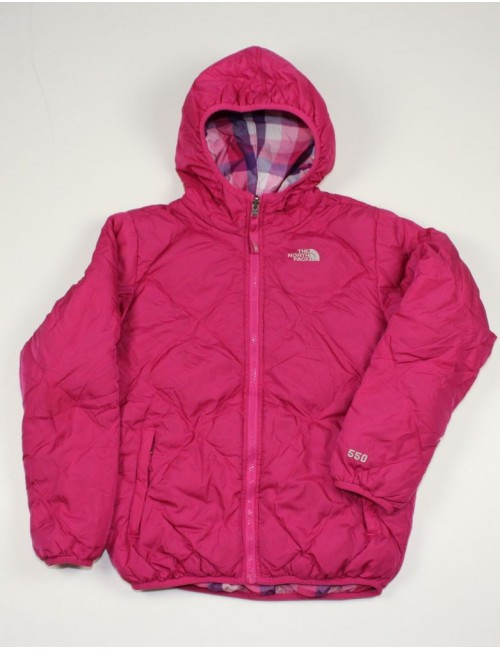 THE NORTH FACE AUUD girls reversible Moondoggy down jacket (L)