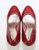 WHITE HOUSE BLACK MARKET Diane Snakeskin Platform Heels (7.5)