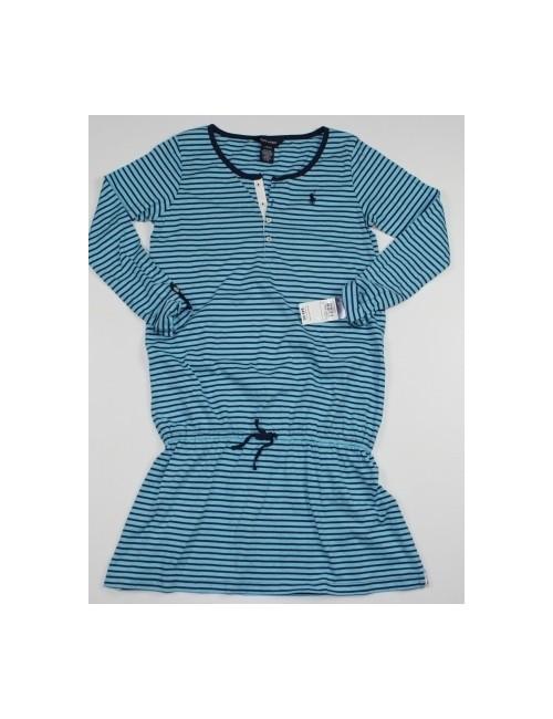 RALPH LAUREN girls striped dress (12/14)