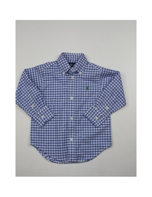 RALPH LAUREN toddler boy plaid button front shirt