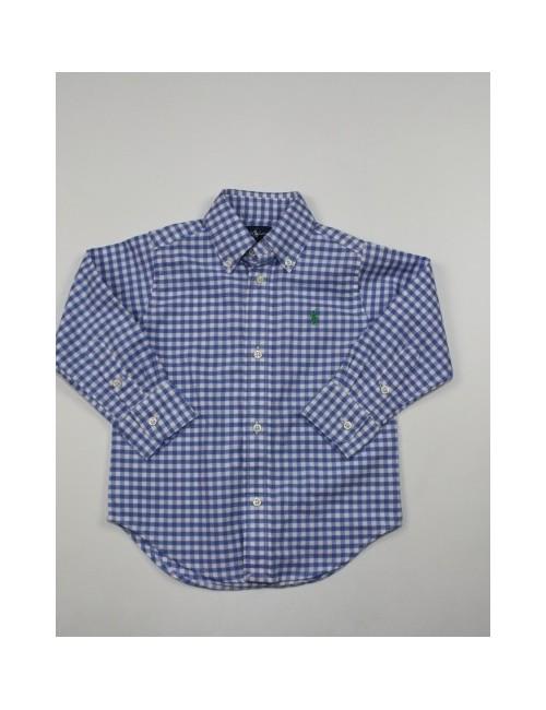 RALPH LAUREN toddler boy plaid button front shirt