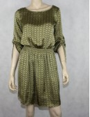 MICHAEL KORS British khaki printed dress (S)