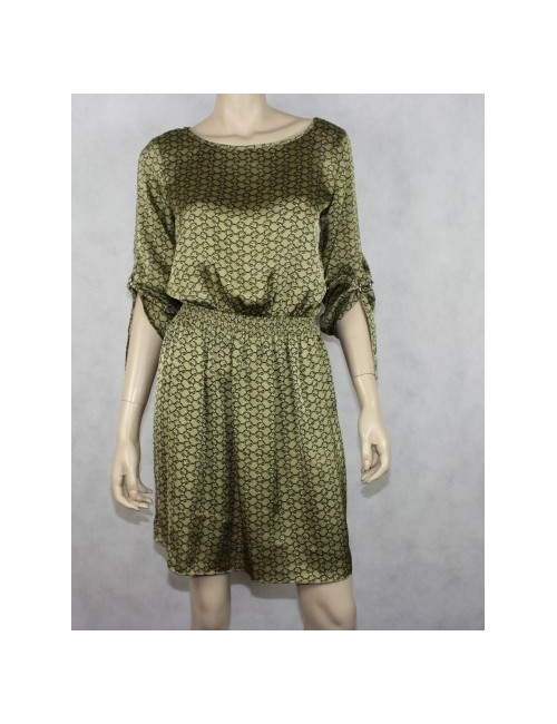 MICHAEL KORS British khaki printed dress (S)