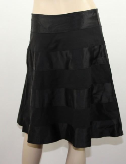 CACHE Black Silk A-Line Skirt Size 10