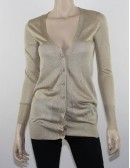 BEBE Shimmer Long Cardigan size M