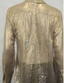 MICHAEL KORS transparent button down blouse (size S)