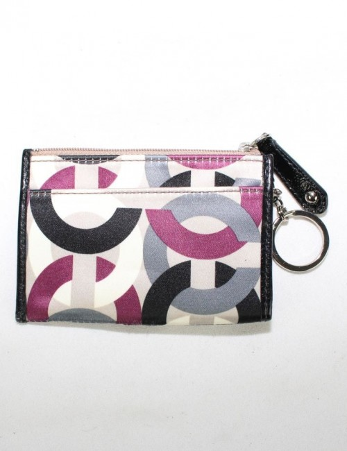COACH Key Chain Coin Case Zip Wallet