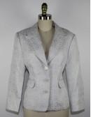 MICHAEL MICHAEL KORS womens white and silver blazer (16)