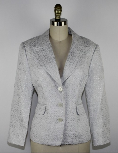 MICHAEL MICHAEL KORS womens white and silver blazer (16)