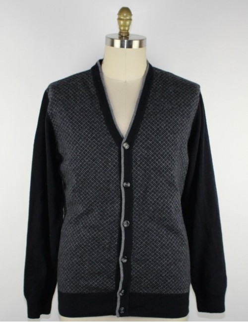 FRANCO DANTI mens cardigan wool sweater (M)