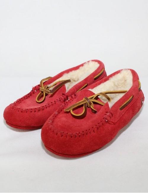 RALPH LAUREN Kids leather moccasin Slippers