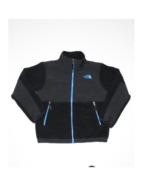 THE NORTH FACE boys Denali fleece jacket with blue trim (10/12) Medium