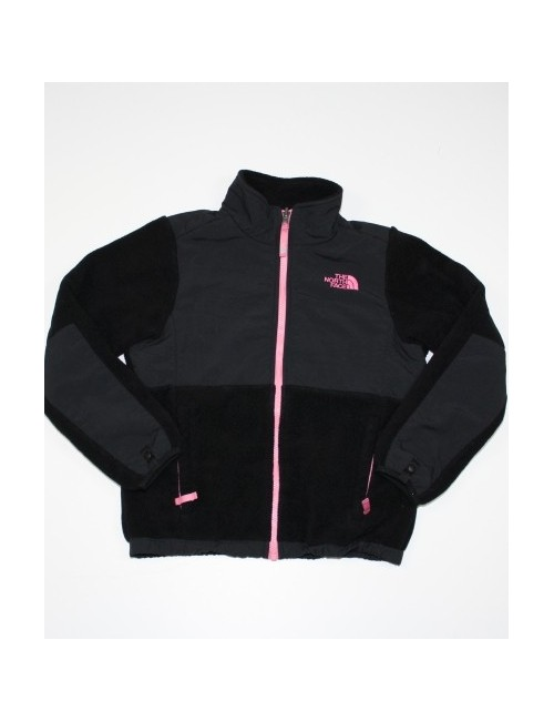 THE NORTH FACE girls Denali fleece jacket with pink trim (10/12) Medium