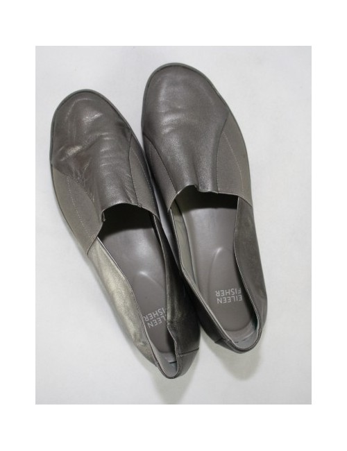 EILEEN FISHER slip on metallic shoes