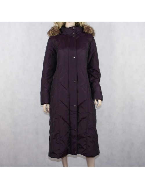 HILARY RADLEY NY womens insulated dark purple long jacket (size L)
