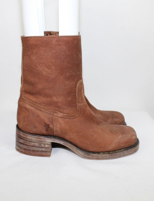 FRYE Boot Campus Zip Brown leather women's boots (size 6.5M) 77235