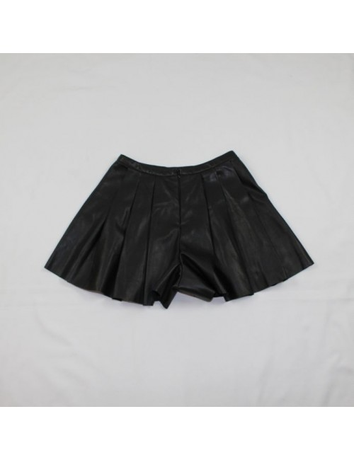 ASOS Ladies Pleated Leather Shorts Size 4 New