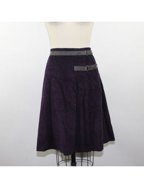 MIU MIU Ladies Purple Corduroy Skirt Size 4/ IT 40