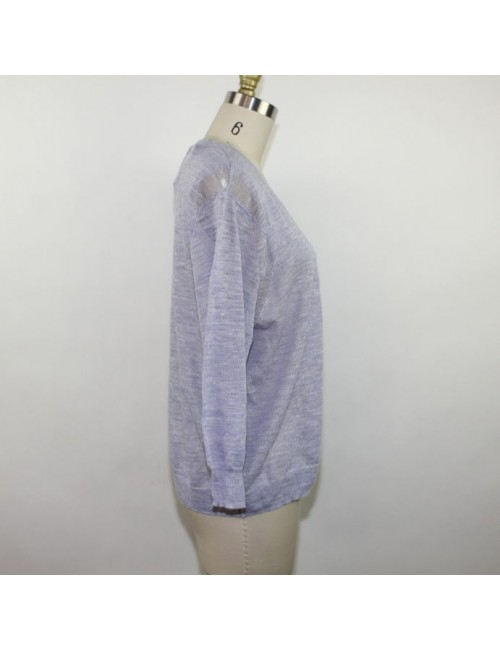 J.CREW Ladies Linen V-Neck Sweater Size M New