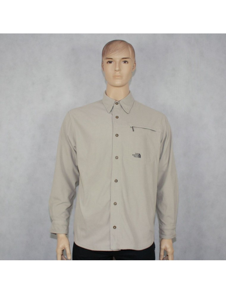 THE NORTH FACE mens beige fleece shirt jacket - vintaya.com