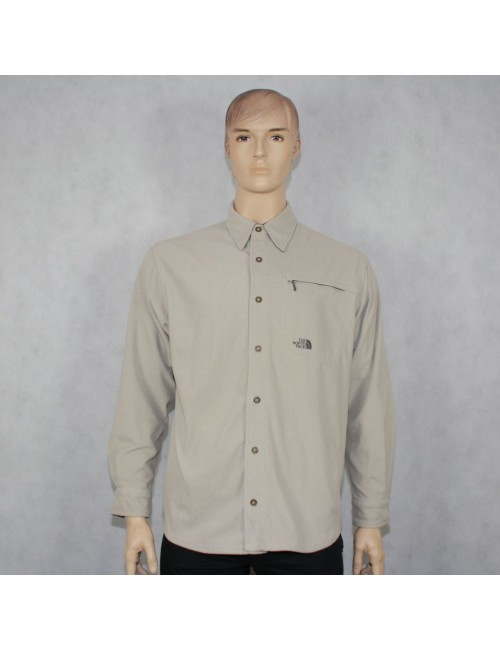 THE NORTH FACE mens beige fleece shirt jacket